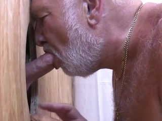 Chubby Daddy Sucks Outside A Load
