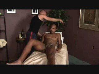 Black guy massaged added to blown by gay masseuse