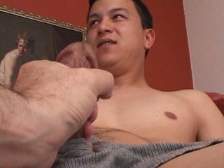 Nervous str8 guy is touched by a man for transmitted to first time