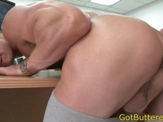 Muscled blond fucked in designation