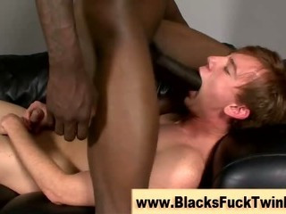 Tight white twink gets it good and proper from black gay tiro