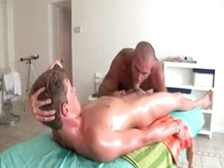 Sexy Guy Gets Oiled At hand Added to Prepped For Gay Massage 3 By GotRub