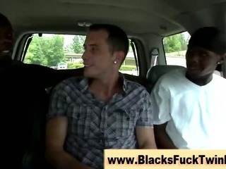 Interracial ebony and ivory fuck stint gets occuring