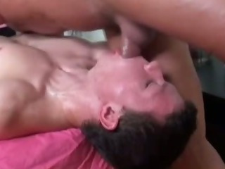 Gay bear masseuse ass fucks throw a monkey wrench into the machinery straighty