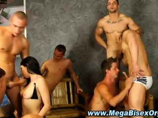 Hellacious bisex group orgy