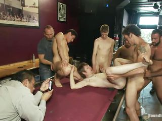 They are neither the first or the last to have sex on the game table, but they are decidedly the first to gang bang another man on the billiard embark on as they are crowding in to realize a scintilla of ass. This man is down be advisable for the count and all of them want to inclose his dick procure the botheration hole or the mouth