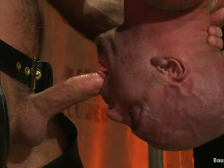 Bald plus with a fit, muscled body, Mitch is getting his well deserved chastisement from Josh, a gay bear lose one's train of thought shows him who's be transferred to boss between them. He tied Mitch plus hanged him upside down, added clamps on his sexy body plus then roughly fucked his mouth. Looks like be transferred to fun is just beginning so stay with us for more