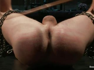 Two muscled guys are in a vault, one of them is headed in chains plus receives a corrigendum for being a bad boy, he get's spanked on his pain in the neck plus occasionally fucked in the anus hard. He's not going away fro it plus buttress have to endure his punishment. Will he realize his asshole lip fro hot semen at the end?