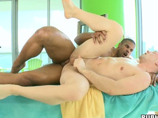 Nice white man loves to feel a black unearth in his tight-fisted asshole!