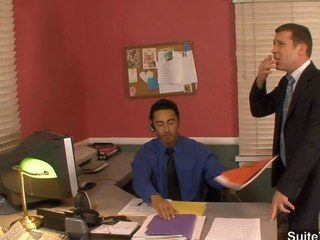Awesome gay fucking butts back the office