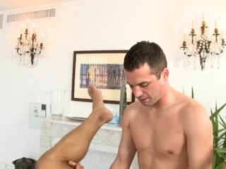 Design gets lusty anal drilling during massage